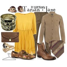 Tarzan and Jane couples outfit