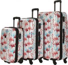 Saxoline Flamingo 4-Rad Trolley-Set 3-tlg. flamingo #flamingoset style Travel Urlaub Motivkoffer pretty Style