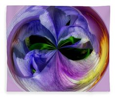 """Iris Orb - Duvet Sized Fleece Blanket (50"""" x 60"""") by Scott Hervieux.  Our luxuriously soft throw blankets are available in two different sizes and feature incredible artwork on the top surface.  The bottom surface is white."""