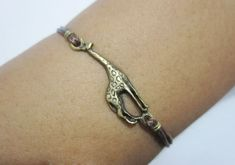 giraffe braceletgiraffe jewelry / antique bronze giraffe by lylord, $0.49