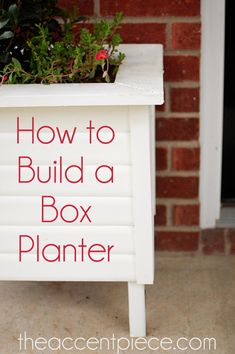 How to Build a Box Planter DIY