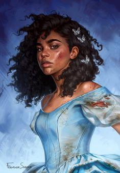 Cinderella is Dead Book Cover by Fernanda Suarez : EbonyImagination Black Love Art, Black Girl Art, Digital Art Girl, Digital Portrait, Black Characters, Female Characters, Character Inspiration, Character Art, Arte Aries