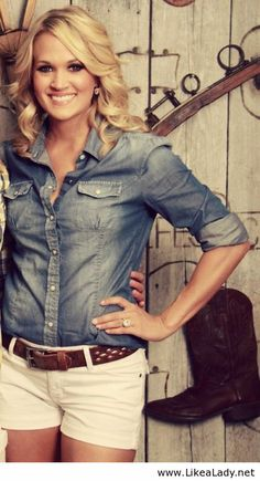 Carrie Underwood Country Style....love her and how classy she is compared to other country women!