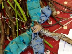 My dragonfly created for skill share 'Twig Weaves' leading creativity course at Gloucester resource centre