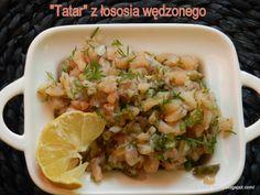 """""""Tatar"""" z łososia wędzonego"""