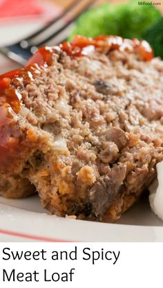 "Make over your classic meat loaf recipe with our sweet and spicy ingredients to give this comfort dish a ""today"" spin! Featuring tangy French dressing, it'll become a favorite meat loaf at your house, for sure! Hamburger Meat Recipes, Meatloaf Recipes, Beef Recipes, Recipies, Amish Recipes, French Recipes, Food Baby, Baby Food Recipes, Meal Ideas"