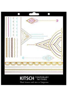 Metallic Jewelry Tattoos by Kitsch {Henna 1} #jewelry #tattoos #gold #metallic #kitsch