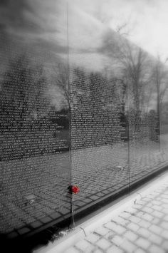 Vietnam memorial: my husband who is a veteran and I, visited this very spot, it's impacting...