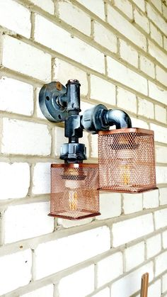 Pipe wall light sconce Vintage industrial wall lights Edison