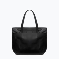 Image 1 of STRUCTURED LEATHER SHOPPER BAG from Zara