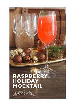 Raspberry Holiday Mocktail Recipe #LeonsHelloHoliday