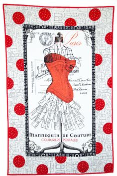 Quilt Patterns Free, Free Pattern, Sewing Patterns, Paris Quilt, Circle Template, Paris Theme, Shades Of Red, Fabric Panels, Quilting