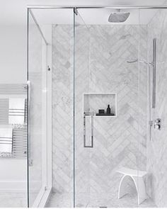 Eye-popping small bathroom - go and visit our write-up for more suggestions! Master Bathroom Shower, Upstairs Bathrooms, Bathroom Renos, Large Tile Bathroom, Grey Marble Bathroom, Grey Bathroom Floor, Gray Shower Tile, Bathtub Tile, Bathroom Hacks
