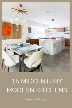 Are you a fan of the midcentury style? With its wood details, clean lines and geometric features, we are loving the look of these midcentury modern kitchens.