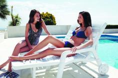 Bañador Estampado azul y Bikini azul