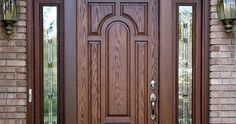 Modern 100 Wooden front door designs catalogue 2019 for modern homes main doors Pop Design For Hall, Door Design, Spring Door Decoration, Front Door Makeover, Front Door Handles, Wood Doors Interior, Metal Entrance Doors, Doors Interior Modern, Front Door Design
