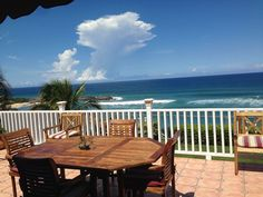 Puerto Rico: 3-5 minute walk a 1 minute driving to public beach (Marchiquita). Three other nice beaches in the vecinity. Spectacular 180 degrees ocean view from outside terrace! Enjoy the ocean breeze, moon and stars in the ...