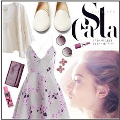 A fashion look from August 2015 featuring plunge dresses, Cleobella and leather pumps. Browse and shop related looks. Charlotte Olympia, The Row, Polyvore Fashion, Lavender, Paris, Purple, Stuff To Buy, Shopping, Viola