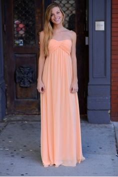 Grecian Coral/Peach Dress Available in multiple colors!