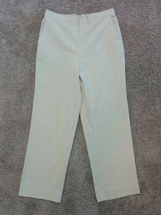 Alfred Dunner beige textured casual pants, elastic back waist, Size 10, #2046 #AlfredDunner #CasualPants