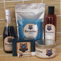 Ravenclaw Themed Spa Gift Set - Bath Salt, Soy Candle, Soap, Bubble Bath,Lotion and Lip Balm