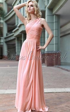 rosa Etui-Linie Bodenlanges Kleid wedding dressses, homecoming dresses, bridesmaid dresses, australia, one shoulder, peach, flower girl dresses, crystal, ball dresses