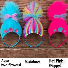Trolls Hair Headband Poppy Headband Poppy Troll Headband Wig