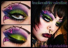 Frankenstein Valentine by Razor De Rockefeller http://www.makeupbee.com/look.php?look_id=79034