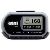 BUSHNELL NEO-The smallest, most compact, golf GPS unit available is also one of simplest and easiest to use. The Neo Golf GPS gives you the distance to the front, center & back of the green, at a glance, and stores up to 10 courses. Download courses from iGolf.com or use the Neo to map any course in the world - with no additional fees or computer needed. Lower scores are just a glance away!