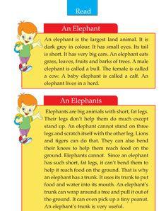Writing skill - grade 2 - the elephant English Grammar For Kids, Learning English For Kids, English Worksheets For Kids, English Lessons For Kids, English Reading, Learn English Words, English Games, Writing Mentor Texts, Essay Writing Skills
