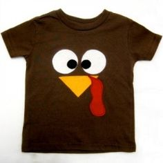 DIY Turkey Shirt that is perfect for the kids (and adults) to wear on Thanksgiving!
