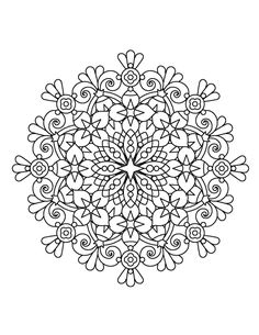 Mandalas have been used for hundreds of years to help focus and relax people. Let Coloring Book Zone sweep you away into a world of beautiful mandalas to help the colorist stay happy. Filled with mand Mandala Coloring Pages, Colouring Pages, Adult Coloring Pages, Coloring Sheets, Free Coloring, Coloring Books, Mandala Design, Mandala Art, Color Of Life