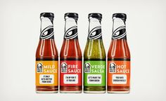 Taco Bell is Bottling Their Hot Sauces - Mild, Hot, Fire, and Verde Salsa.