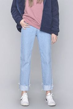 Clean Fit Ankle Denim Pants | Korean Fashion
