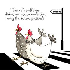 Chickens Crossing Road - This selection of humorous greeting cards by The Skinny Card Co. are sure to raise a smile on anyone.