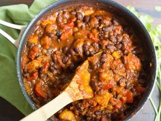 Black Bean Plantain Chili