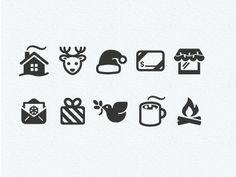 Christmas icon set (love the reindeer) #icon #design #christmas