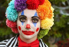 Yarn clown wig - 15 Amazing DIY Halloween Costumes for Kids - ParentMap
