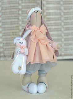 Игрушки животные, ручной работы. Ярмарка Мастеров - ручная работа Зайка -девочка  Сонечка - 31 см. Handmade.
