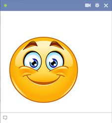 This smiley has a big grin in store for someone on Facebook.