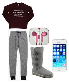 """Lazy days"" by asia-814 on Polyvore featuring Madewell, UGG Australia, women's clothing, women's fashion, women, female, woman, misses and juniors"