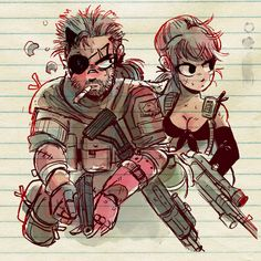 TOONIMATED DRAWS — Snake & Quiet