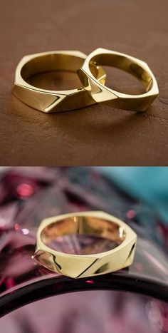 If you looking for unusual wedding rings these pair will be just perfect for you. Wedding ring wedding bands couple rings his and hers rings matching wedding rings. - March 09 2019 at Wedding Ring Sets Unique, Matching Wedding Rings, Wedding Rings Simple, Wedding Rings Vintage, Wedding Matches, Unique Rings, Wedding Jewelry, Gold Wedding, Trendy Wedding