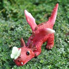 Miniature Gardening - Dragon Playing with Butterfly > $6.00