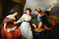 Self Portrait of the Artist Hesitating between the Arts of Music and Painting, by Angelica Kauffmann, 1794.