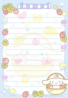 Kawaii letter paper - Cinnamoroll