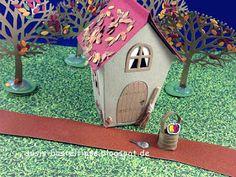 """Susis Basteltipps: Märchenland mit Stampin' Up! Framelits """"Ein Haus für alle Fälle"""" (Home Sweet Home): Schneewittchen und die sieben Zwerge"""