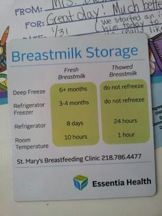 Breastmilk Storage, Everybody should know this!!!