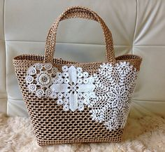Marvelous Crochet A Shell Stitch Purse Bag Ideas. Wonderful Crochet A Shell Stitch Purse Bag Ideas. Crochet Handbags, Crochet Purses, Purse Patterns, Crochet Patterns, Lace Bag, Crochet Shell Stitch, Diy Tote Bag, Macrame Bag, Denim Bag