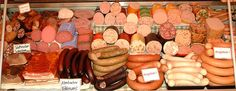 all the different sausages from the Metzgerei...
